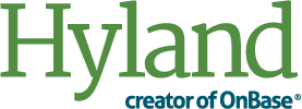 Hyland Software logo.